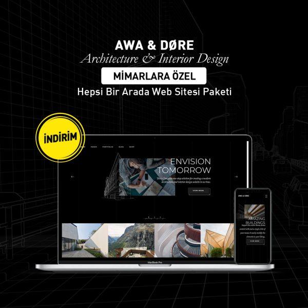 Døre - Mimarlara Özel Web Sitesi Paketi